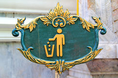 Keep clean sign. Sign of Keep Clean and Litter bin and recycle Stock Images
