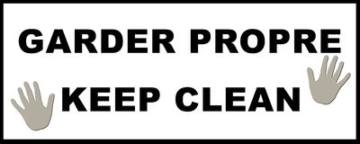 Keep Clean Sticker. Garder propre - keep clean - illustration, decal Stock Photos
