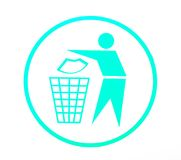 Keep clean symbol Royalty Free Stock Photography