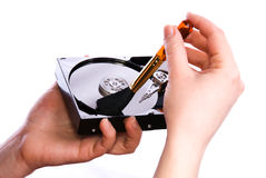 Keep clean your hard disk Royalty Free Stock Images