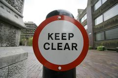 Keep clear stock image