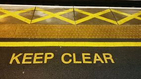 Keep clear Stock Photos