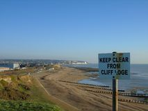 Keep clear from cliff edge Royalty Free Stock Photo