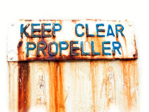 Keep clear propeller Stock Image