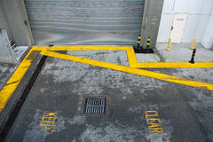 Keep Clear road markings Royalty Free Stock Photo