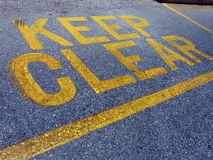 Keep clear sign. Words keep clear on the road in Malta Royalty Free Stock Photo
