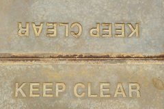 Keep Clear Sign Royalty Free Stock Image