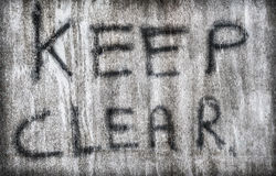 Keep Clear Sign Stock Photography