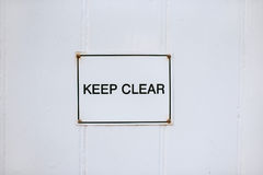 Keep clear sign Stock Photo