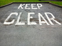 Keep Clear sign UK Royalty Free Stock Images