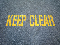 Keep clear sign Royalty Free Stock Photography