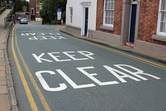 KEEP CLEAR street sign Stock Image