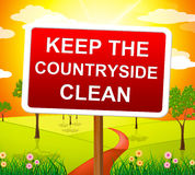 Keep Countryside Clean Means Pristine Clear And Landscape Royalty Free Stock Images