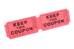 Keep this Coupon. Having kept this coupon its owner can participate in draw of a lottery spent during show or sports actions Royalty Free Stock Photography