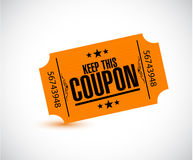 Keep this coupon. orange ticket illustration Royalty Free Stock Images