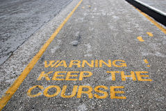 Keep the course Royalty Free Stock Photo
