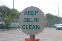 Keep Delhi Clean signage New Delhi India Royalty Free Stock Photography