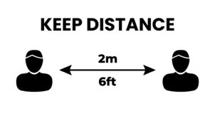 Free Keep Distance People 2 M Or 6 Feet Illustration Stock Photos - 176304573