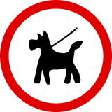 Keep dog on lead Royalty Free Stock Photos