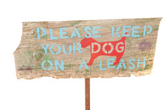 Keep dogs on a leash Stock Images