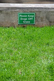 Keep dogs off the grass, warning message, Stock Photos
