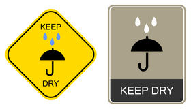 Keep dry - warning sign Stock Photo
