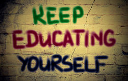 Keep Educating Yourself Concept Royalty Free Stock Photo