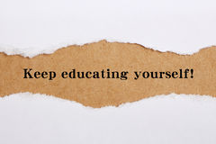 Keep educating yourself. Concept image Royalty Free Stock Image