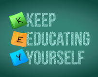Keep education yourself illustration design. Graphic background Royalty Free Stock Photos