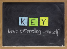 Keep extending yourself - motivation acronym Stock Photography