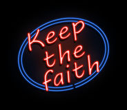 Keep the faith sign. Royalty Free Stock Images