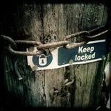 Keep a fermé à clef Photos libres de droits