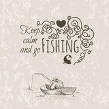 Keep fishing sketch calm Stock Image