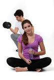 Keep fit couple Royalty Free Stock Photography