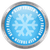 Keep frozen. Icon on white background Stock Images