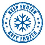 Keep frozen ink blue stamp. Isolated on white background Stock Photos