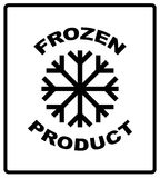 Keep frozen. Storage in Refrigerator and Freezer packaging symbol on a corrugated cardboard box. For use on cardboard Royalty Free Stock Photo