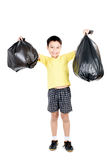 Keep garbage in bag for eliminate Stock Images