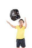 Keep garbage in bag for eliminate Stock Photography