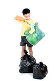 Keep garbage in bag for eliminate Stock Image
