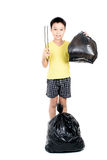 Keep garbage in bag for eliminate Stock Photo