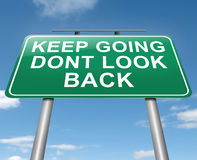 Keep Going. Royalty Free Stock Photo