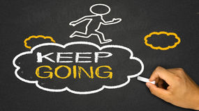 Keep going Royalty Free Stock Photos