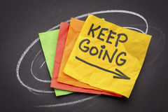 Keep going motivation concept Royalty Free Stock Image