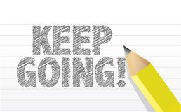 Keep going, in motivation concept royalty free illustration