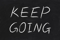 Keep Going Royalty Free Stock Photography