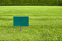 Keep of the grass blank sign Stock Image