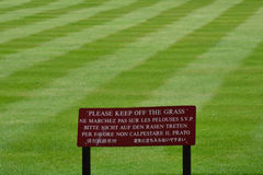 Keep of the grass sign Royalty Free Stock Image