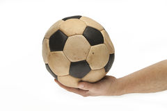 Keep hand on the ball Stock Images