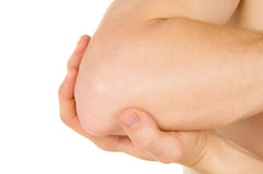 Keep hands behind elbow Stock Image